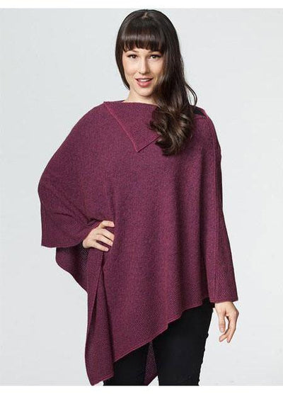 Womens Long Poncho-Possumdown-Te Huia New Zealand