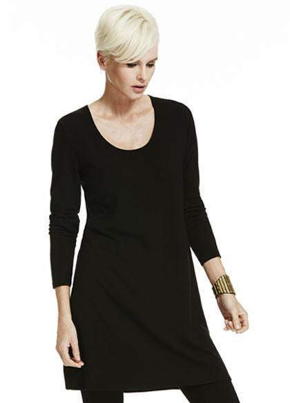 Paula Ryan-Womens Merino Easy Fit Long Sleeve Scoop Neck Tunic - buy online with www.tehuianz.com