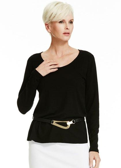 Womens Merino Easy Fit Long Sleeve Scoop-Paula Ryan-Te Huia New Zealand