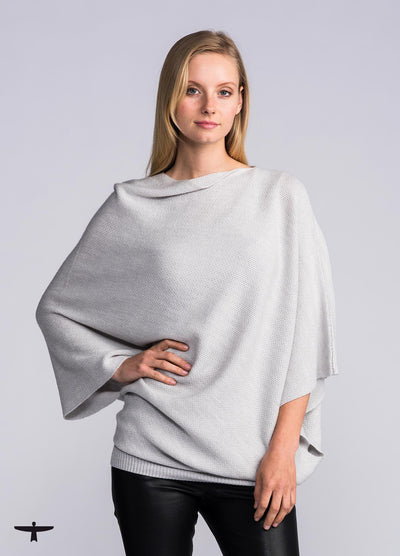Womens Fettle Sweater - Light Silver-Untouched World-Te Huia New Zealand