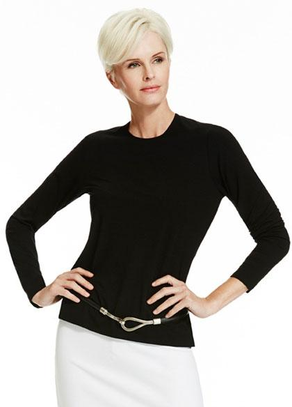 Womens MicroModal Easy Fit Long Sleeve Crew-Paula Ryan-Te Huia New Zealand