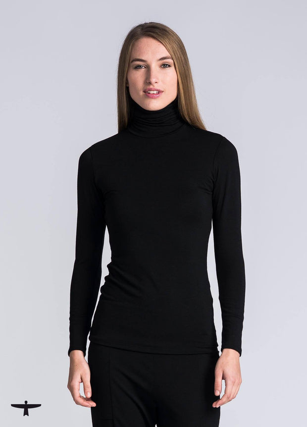 Womens Classic Roll Neck Top-Untouched World-Te Huia New Zealand