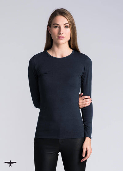 Womens Round Neck Top-Untouched World-Te Huia New Zealand