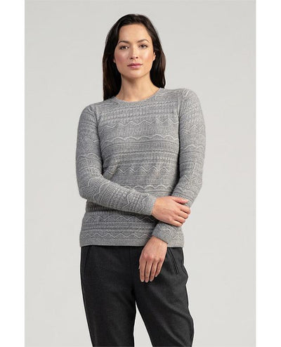 Womens Peak Crop Sweater-Merinomink-Te Huia New Zealand