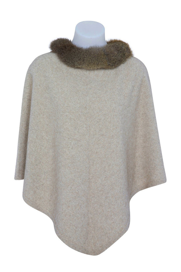Native World-Womens Pure Possum Trim Poncho - buy online with www.tehuianz.com