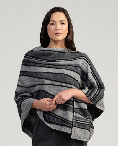 Womens River Poncho-Merinomink-Te Huia New Zealand