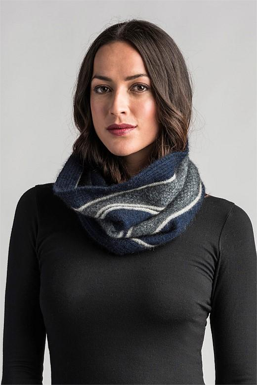 Womens River Snood-Merinomink-Te Huia New Zealand