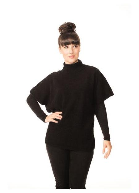 Womens Roll Neck Tunic-Possumdown-Te Huia New Zealand