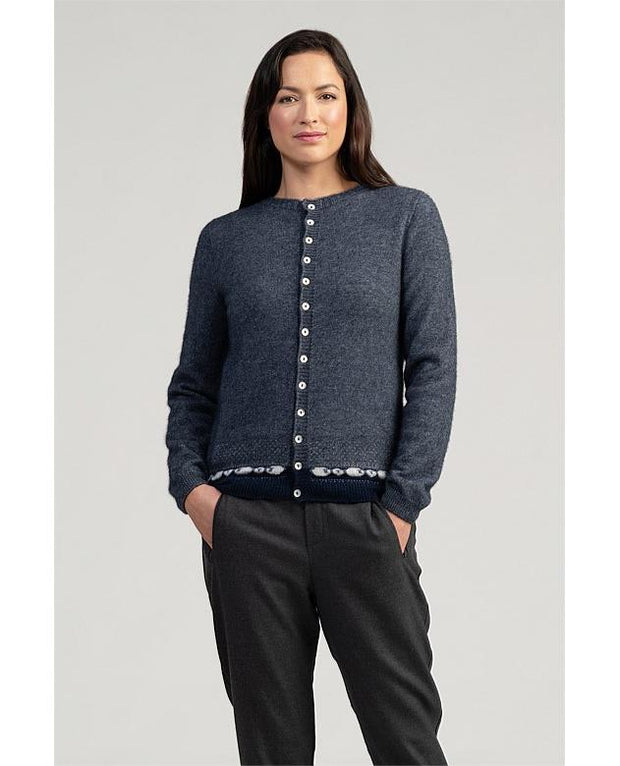 Womens Sheep Cardigan-Merinomink-Te Huia New Zealand