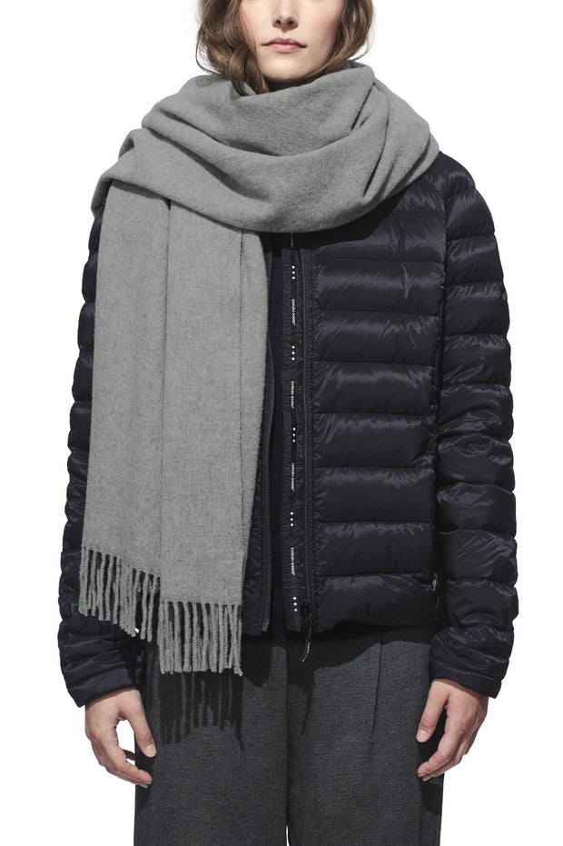Womens Solid Woven Scarf-Canada Goose-Te Huia New Zealand