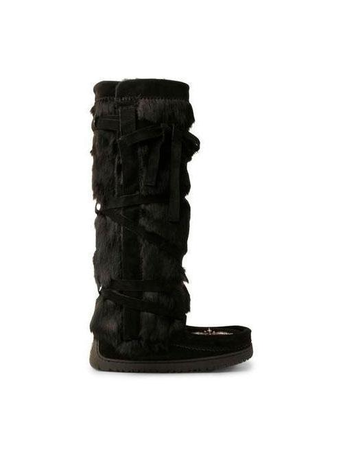 Womens Tall Wrap Mukluk - Black-Manitobah Mukluks-Te Huia New Zealand