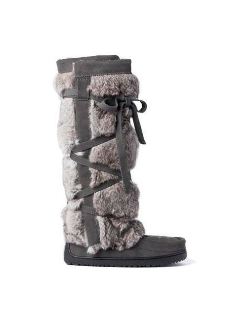 Womens Tall Wrap Mukluk - Charcoal-Manitobah Mukluks-Te Huia New Zealand