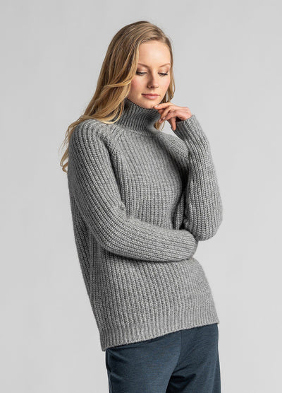Womens Verve Chunky Roll Neck-Untouched World-Te Huia New Zealand