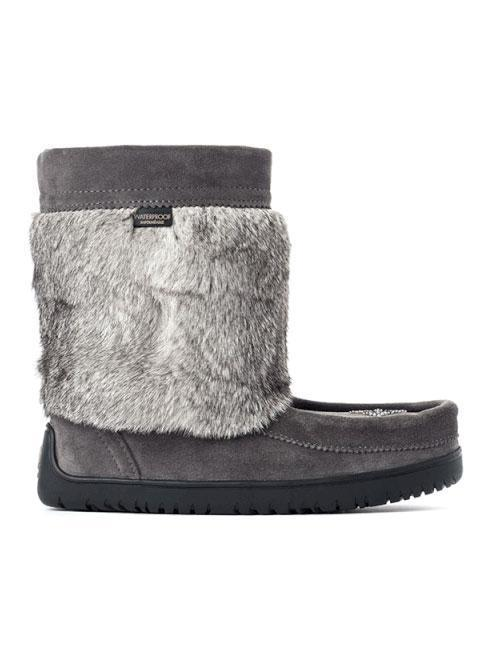 Manitobah Mukluks-Womens Waterproof Half Mukluk - Charcoal - buy online with www.tehuianz.com