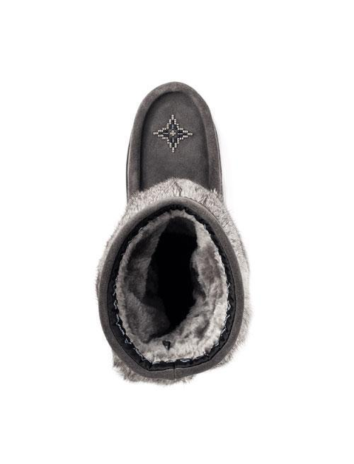 Womens Waterproof Half Mukluk - Charcoal-Manitobah Mukluks-Te Huia New Zealand