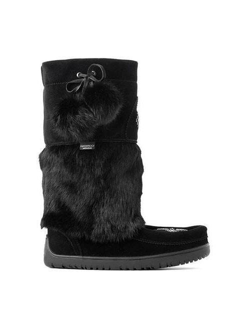 Womens Waterproof Snowy Owl Mukluk - Black-Manitobah Mukluks-Te Huia New Zealand
