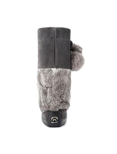 Womens Waterproof Snowy Owl Mukluk - Charcoal-Manitobah Mukluks-Te Huia New Zealand