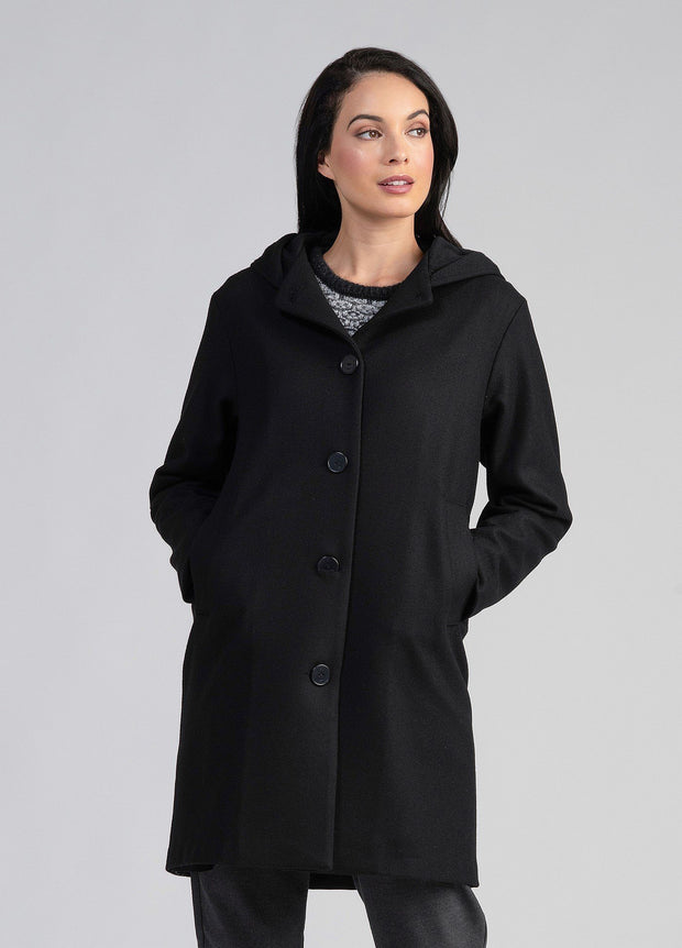 Untouched World-Womens Wool Hood Coat - buy online with www.tehuianz.com