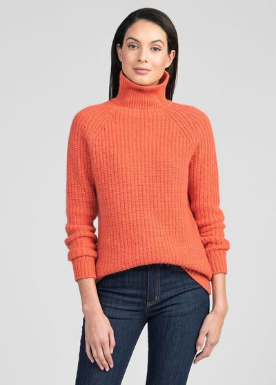 Womens Verve Chunky Roll Neck - Coral