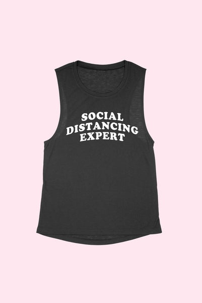 Social Distancing Expert Muscle Tee