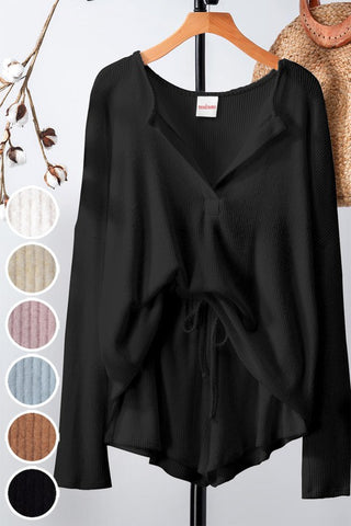 Cozy Lounge Wear Set - onyx