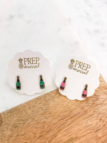 Poppin' Bottles Enamel Stud Earrings