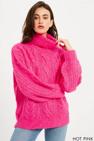 Barbie Cable Knit Turtle Neck