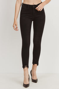 JUST BLACK DENIM - Skinny with Hem Bite Denim