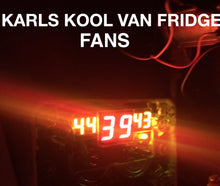 Karls Kool 2500 series Xtreme Dual FANS 120MM X 240MM With SMALLER SIZED TE8 Controller AND Fittings Heat Extraction AUSTRALIAN MADE, AUSTRALIAN STOCK