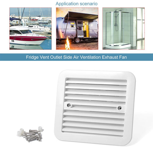 White 12V Fridge Vent Outlet Side Vent Exhaust Fan WITH TE8 or TE888 controller AUSTRALIAN STOCK