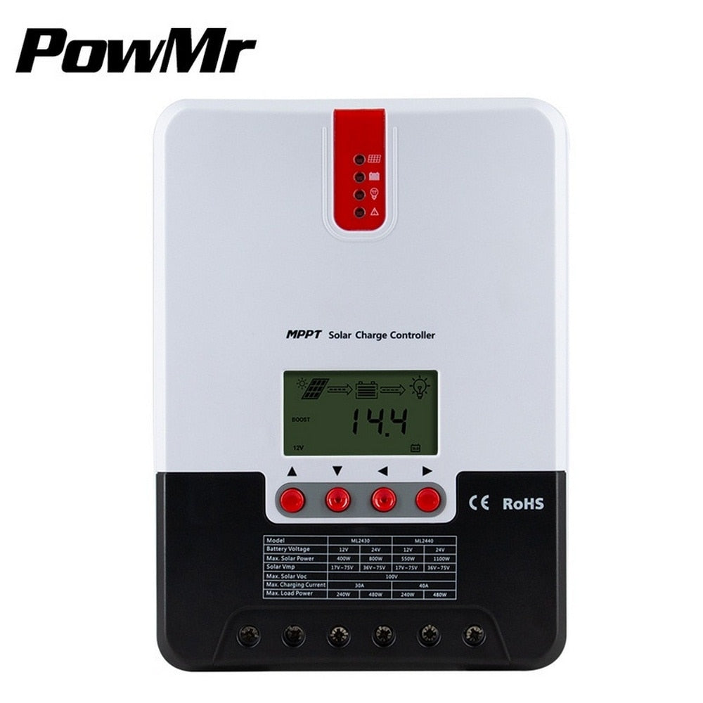 MPPT REG. 40A Solar Charge Controller LCD Solar Regulator system controller auto voltage identification AUSTRALIAN STOCK FOR IMMEDIATE DISPATCH
