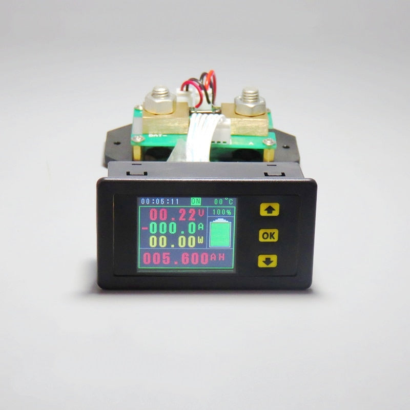 DC 120v 300A LCD Combo Meter Voltage current KWh Watt Meter 12v 24v 48v 96V Battery Capacity Power monitoring