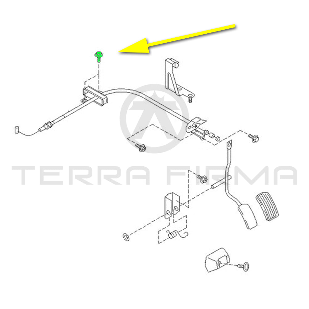 Nissan Skyline R32 GTR Accelerator Wire Assembly Clamp