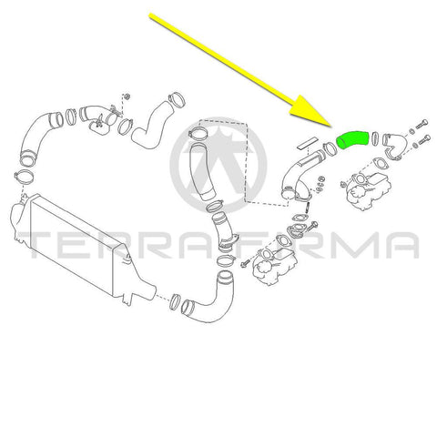 Nissan Skyline R32 R33 R34 GTR Turbo Charger Inlet Hose