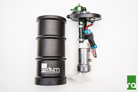 Radium Engineering Surge Tank W/Single AEM 50-1200 (E85) Pump For Nissan Skyline/Silvia/180SX