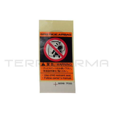 Nissan Skyline R34 GTR/GTT Caution Air Bag Decal Label
