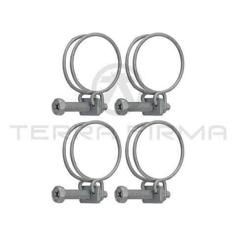 Nissan Skyline R32 R33 R34 GTR Rear Turbo to Oil Pan Hose Clamps