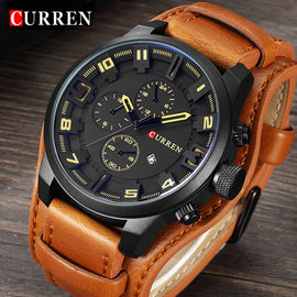 Curren Mens Watches Top Brand Luxury Leather Quartz Watch Men Fashion Casual Sport Clock Men's Wristwatch Relogio Masculino 8225 - Free + Shipping
