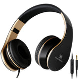 Sound Intone I65 Wired Headphones With Microphone Over Ear Headsets