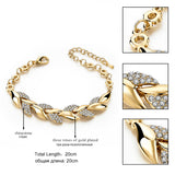 TOUCHEART Braided Gold color Leaf Bracelets & Bangles With Stones