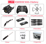 Mini Foldable Selfie Drone with Wifi FPV 0.3MP or 2MP Camera
