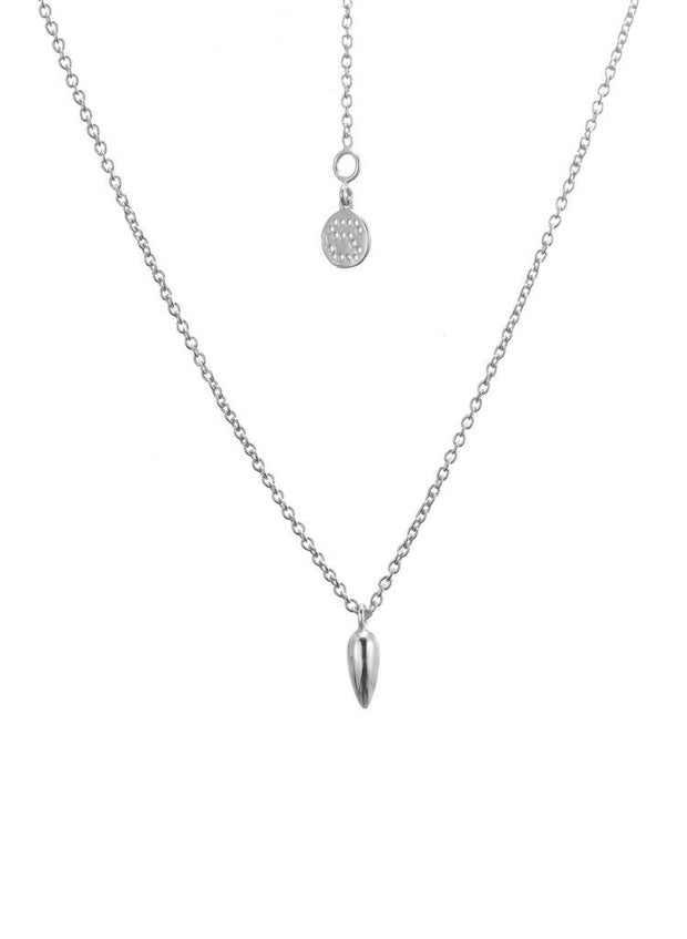 ANTHER CHARM NECKLACE - SILVER