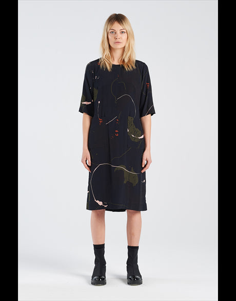 Nyne stockists Therapy Dress Rorschach NZ made NZ designer Ethical clothing NZ fashion