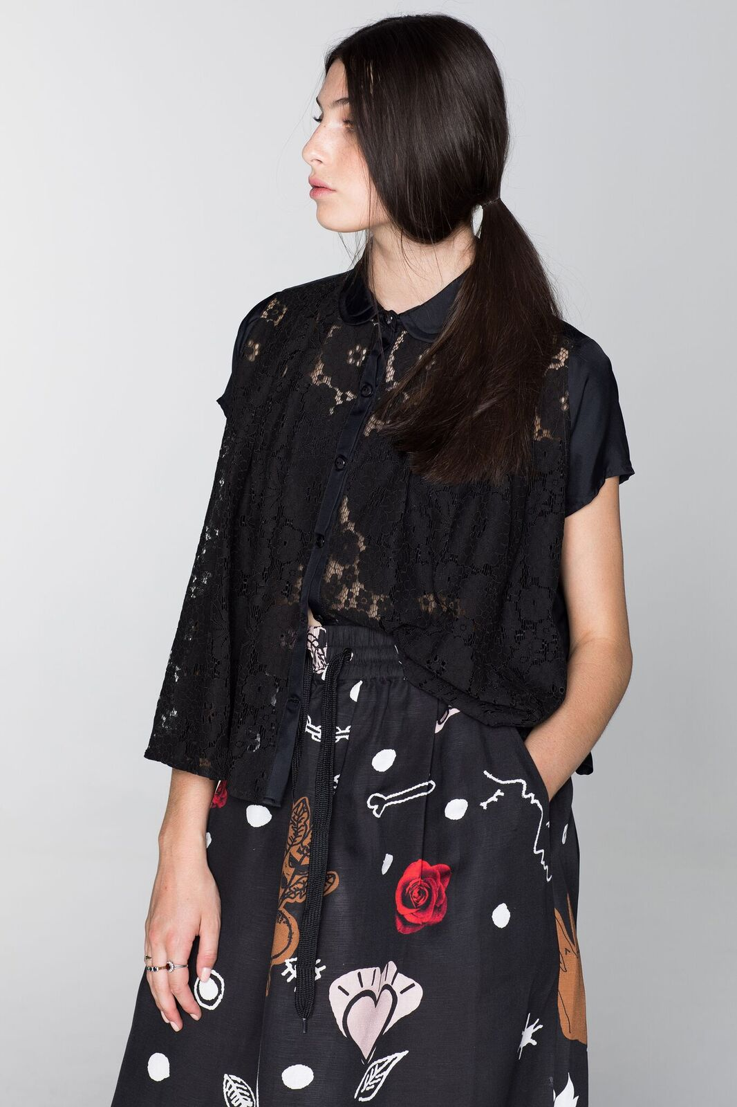 Salasai Extinction Blouse Lace Shirt Shop Salasai online or at our parnell shop Auckland stockists