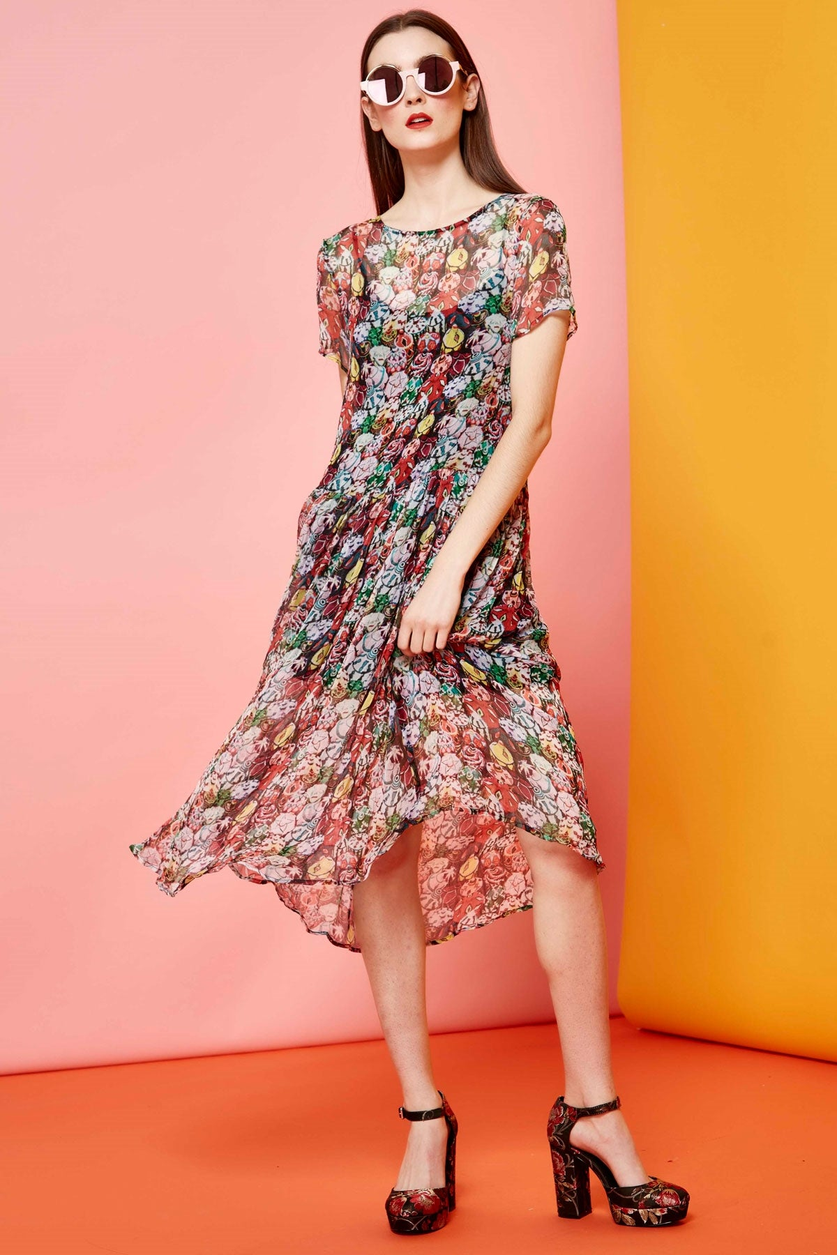 Chiffon My Mind Floral Floaty Dress by Cooper Trelise Cooper Stockists Auckland Parnell River NZ Designer Clothing