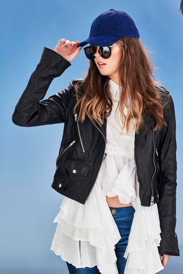 CooperDouble Flare Genuine Leather Jacket, Classic style with Flare Sleeves. New Zealand Designer Clothing Stockists