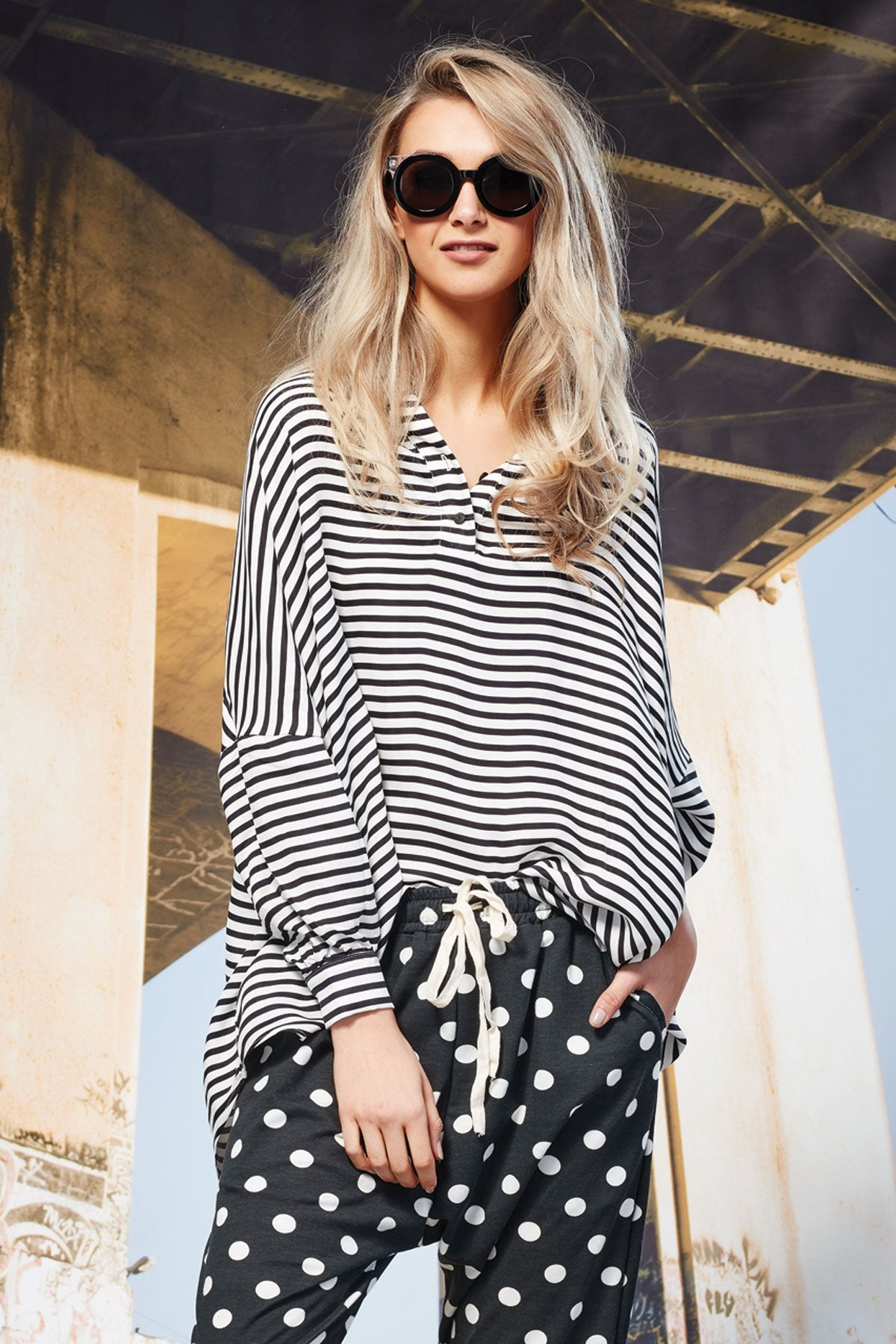 Cooper Love on top stripe shirt trelise cooper stockists New Zealand Designer Clothing Stockists