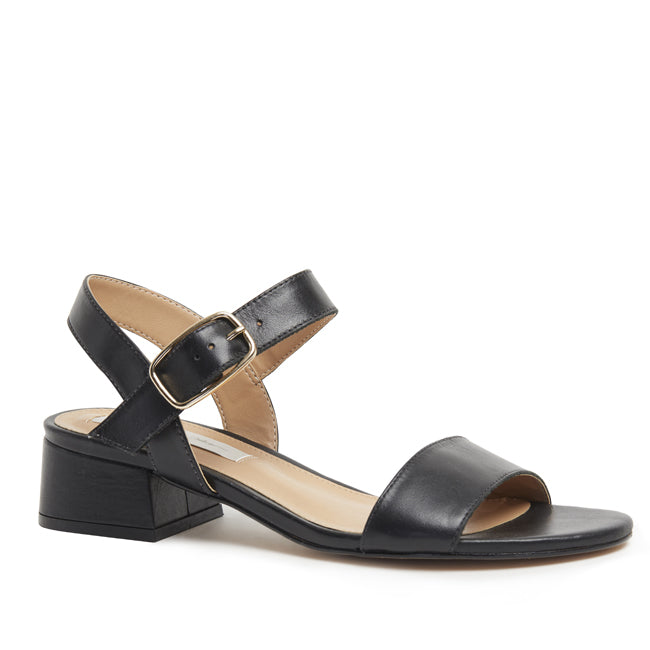 Kathryn Wilson Julianne Sandal in Black Calf Buy New Zealand Designer Footwear  Parnell Ponsonby