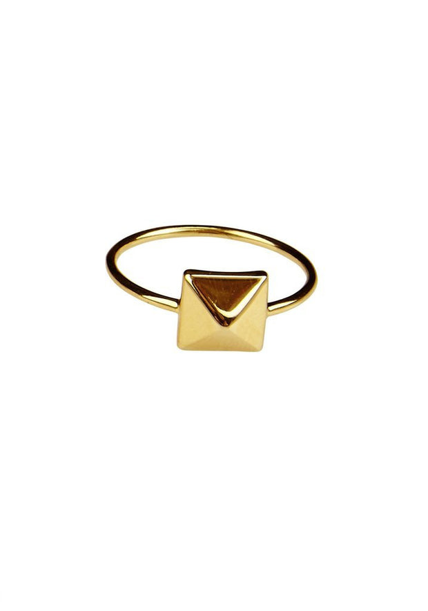 HIERARCHY GOLD PYRAMID STACKER RING