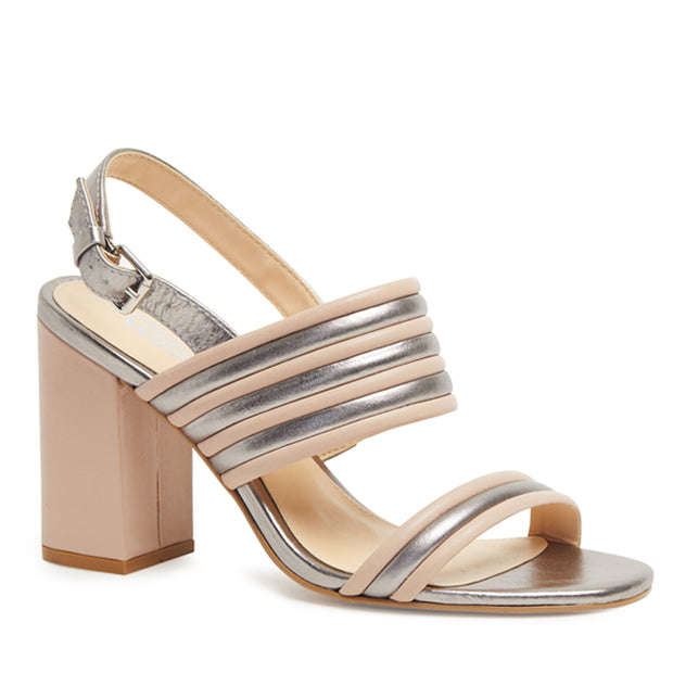 Kathryn Wilson Crawford heel in Nude and Pewter Buy New Zealand Designer Footwear